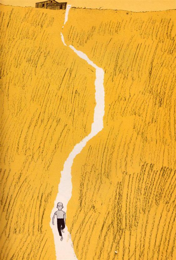 Jim Flora dessine l'ascension du Mont Adams