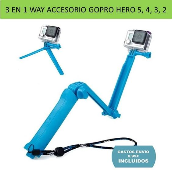 Accessory Gopro 3 In 1 Way Handle Stick Tripod For Cameras And Camcorder Accesorios Gopro Accesorios Accessory Accesorios Gopro Gopro Videocámara