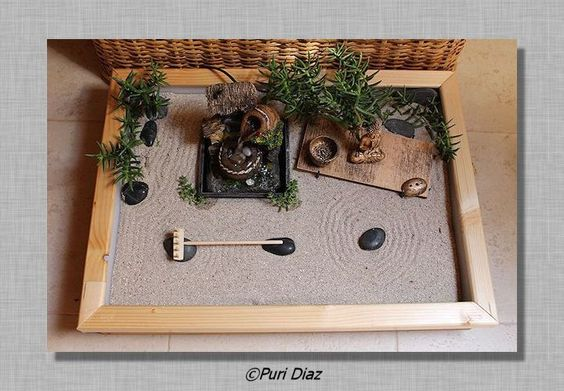 mini jardin zen jardin japonais pinterest jardins recherche et zen. Black Bedroom Furniture Sets. Home Design Ideas