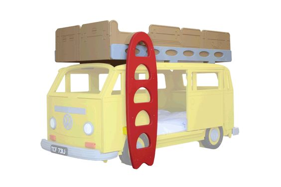 VW Camper Van Bay Theme Bunk Bed Add on by Fun Furniture Collection, Home of Themed Childrens Beds,Toy Boxes and Storage