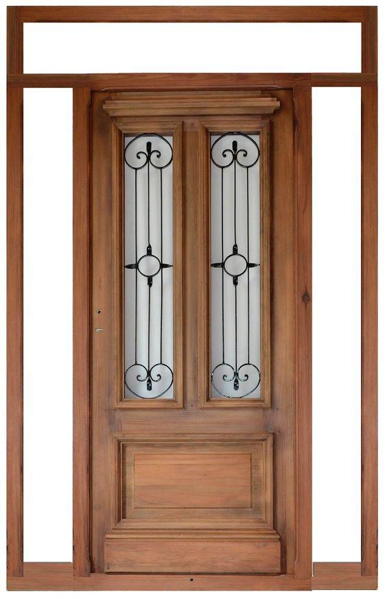 Fant stica puerta de entrada todo en madera pinterest for Puertas principales de madera rusticas