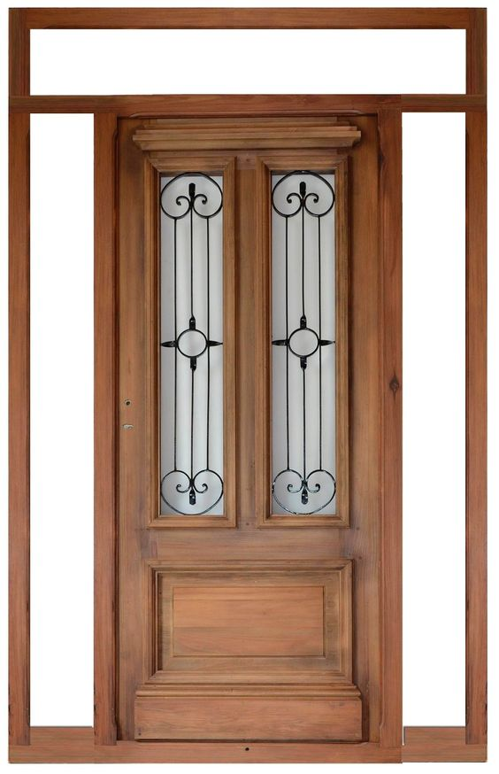 Fant stica puerta de entrada todo en madera pinterest for Colores para puertas exteriores