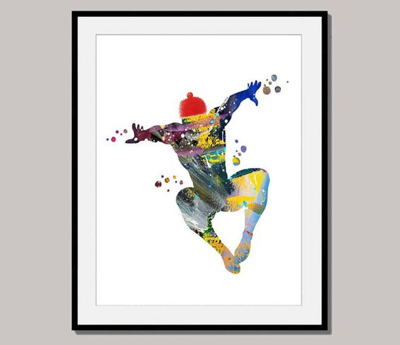 SPIDERMAN No 4 print poster designed for 10 x 8 by interiorart