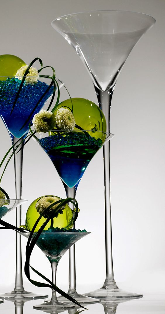 Martinis vases and martini glass centerpiece on pinterest