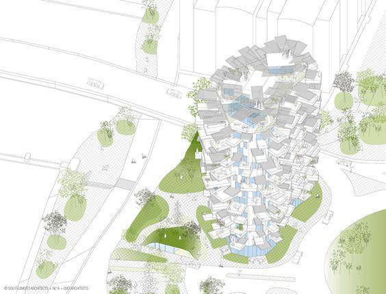 Sou Fujimoto baut in Montpellier / Baumhaus mit 17 Geschossen - Architektur und Architekten - News / Meldungen / Nachrichten - BauNetz.de