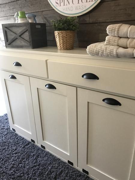 Triple Laundry Hamper With Storage Drawers 3reg Lau Draw Multi