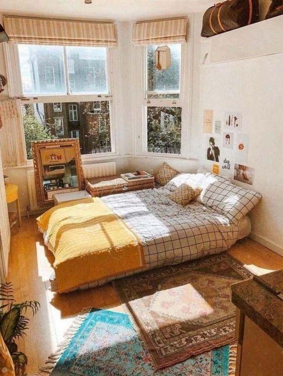 15 Cozy Apartment Decorating Ideas In 2020 Cozy Dorm Room Small Bedroom Decor Aesthetic Bedroom