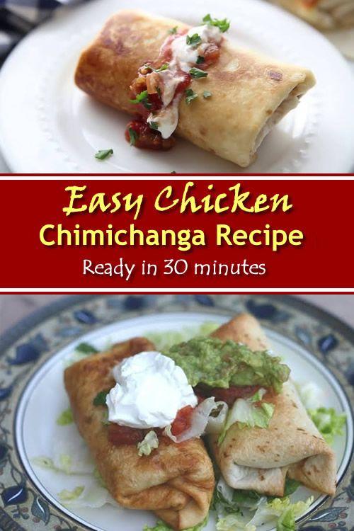 Easy Chicken Chimichanga Recipe