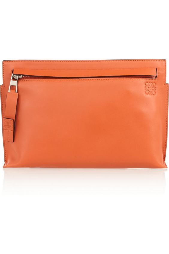 Loewe|Medium leather clutch|NET-A-PORTER.COM