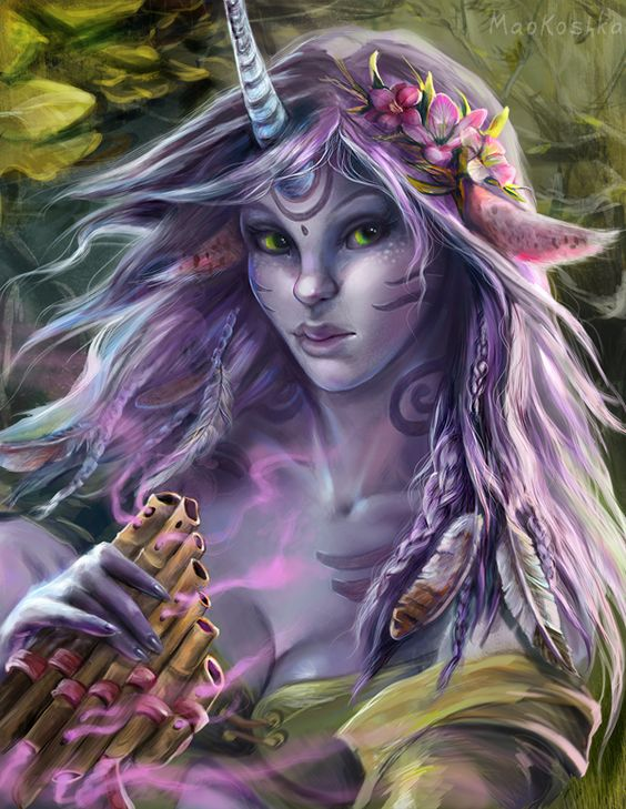 Fantasy Zodiac Portraits by Mao Koshka, via Behance