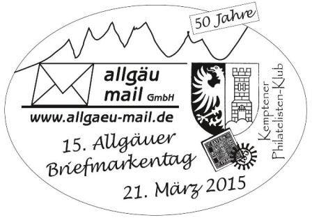 Sonderstempel Allgäuer Briefmarkentag