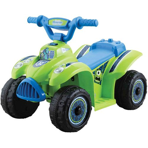 Motorized Toys For Boys : Disney monsters university boys quad volt battery
