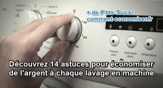 En adoptant ces 14 astuces, vous pouvez être certain que tous vos vêtements seront propres et que vous allez économiser de l'argent à chaque lavage.  Découvrez l'astuce ici : http://www.comment-economiser.fr/economiser-argent-lavage-vetements.html?utm_content=buffer8a066&utm_medium=social&utm_source=pinterest.com&utm_campaign=buffer