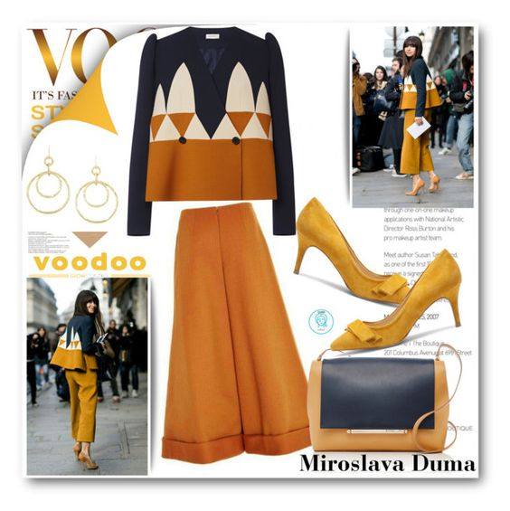 """Miroslava Duma Hits The Streets In Delpozo"" by queenvirgo ❤ liked on Polyvore featuring Delpozo and Sole Society"