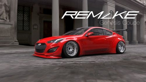 Remake Body Kit For 2013 2015 Hyundai Genesis Coupe Hyundai Genesis Hyundai Genesis Coupe 2015 Hyundai Genesis Coupe