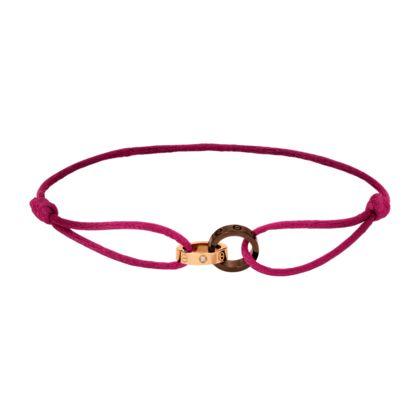 bracelet love 2 anneaux or rose c ramique brune diamants bracelets de luxe pour homme et. Black Bedroom Furniture Sets. Home Design Ideas