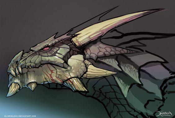 Dragon head by *el-grimlock on deviantART: Dragonhead 42, Dragon Mugshot, Art Dragons, Dragons Art, Dragones Art, Dragon Reference, Dragon Head, Dragon Art