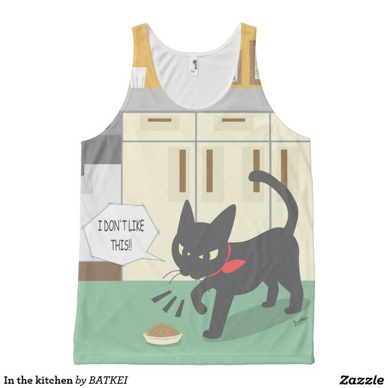 In the kitchen Tank Top by BATKEI #Zazzle #猫 #cat #ネコ #clothing #tanktop #tank