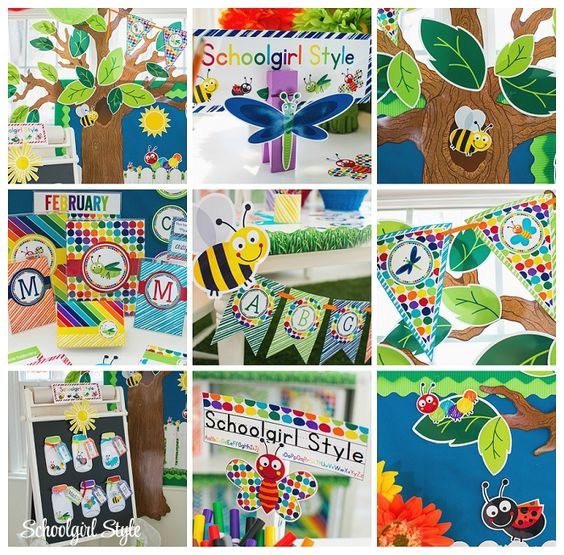 Butterfly Classroom Decorations : Bug insects bee grasshopper ant ladybug butterfly