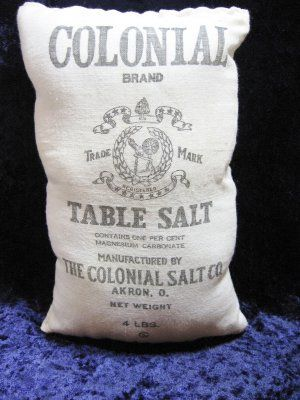 Early Colonial Table Salt Advertising Bag $8.00