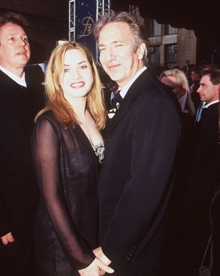 """I LOVE this. Supposedly they greeted the royal family at an event for Sense and Sensibility and Alan told Kate """"If you curtsey, I'll kill you."""""""