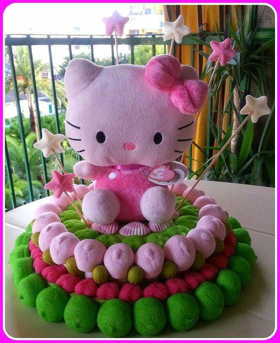 Tarta de chuches - Candy cake - Gâteau de bonbons - Snoeptaart - Hello Kitty …