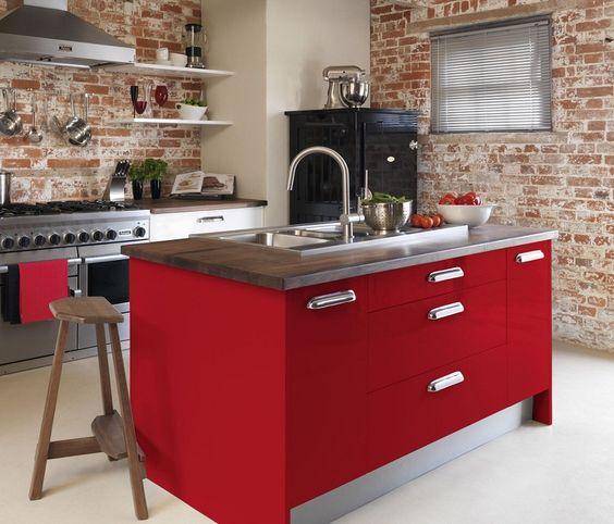 cocinas rojas para cocinar con pasin ideas decoradores