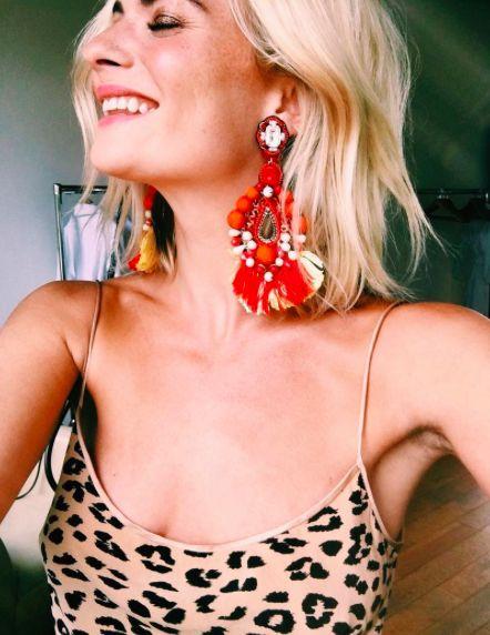 Oversized earrings are a girl's best friend