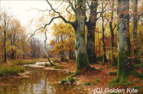 Bachlauf im Herbstwald