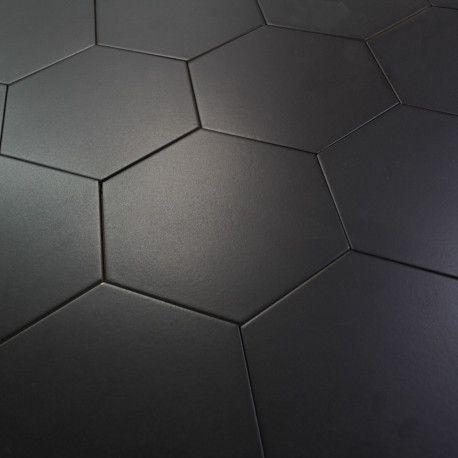 Carrelage Hexagonal Noir Basique Sol Et Mur Parquet Carrelage Carrelage Hexagonal Carrelage Octogonal Plancher