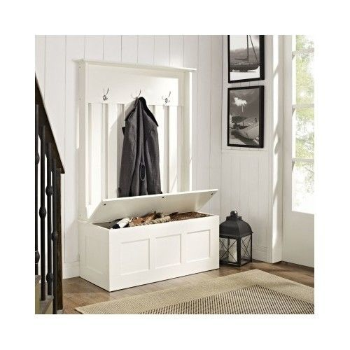 Foyer Coat Storage : Hall tree coat rack tall bench storage entryway foyer mud