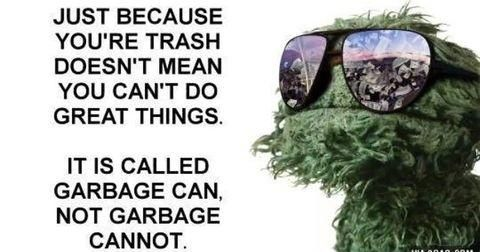 """It's """"garbage can"""" not """"garbage cannot."""""""