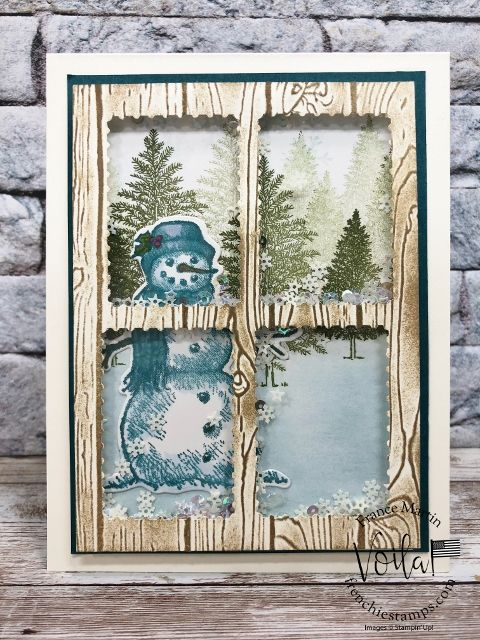 Postage For Christmas Cards 2020 Panel Window Shaker Cards with Rectangular Postage Stamp Punch in