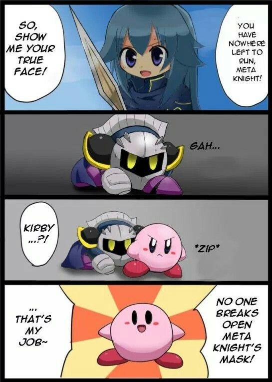 "From nintendodojo.com>> ""That's my job~"" oh Kirby...."