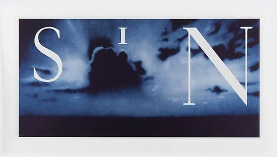 Sin Without (Blue) | Ed Ruscha | From a unique collection of prints and multiples at https://www.1stdibs.com/art/prints-works-on-paper/