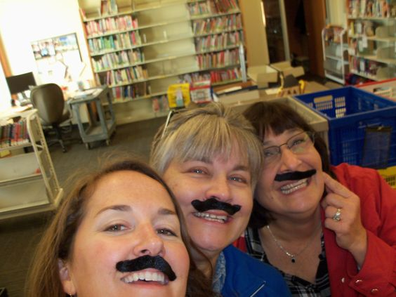 Happy Mustache Monday from Delaware County District Library Community and Family Outreach Services Department!  Today we surprised our bookmobile patrons by wearing mustaches!  www.delawarecounty.org