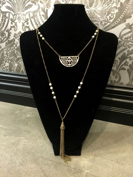 Double Layer Aztec Necklace