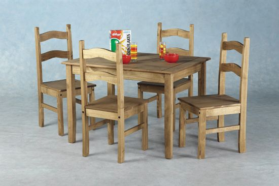 Budget Mexican Wooden Dining Table With 4 Chairs Cute