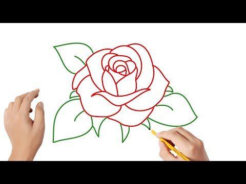 Como Dibujar Una Rosa Paso A Paso Dibujos Para Ninos Youtube Easy Drawings Diy Painting Doodles