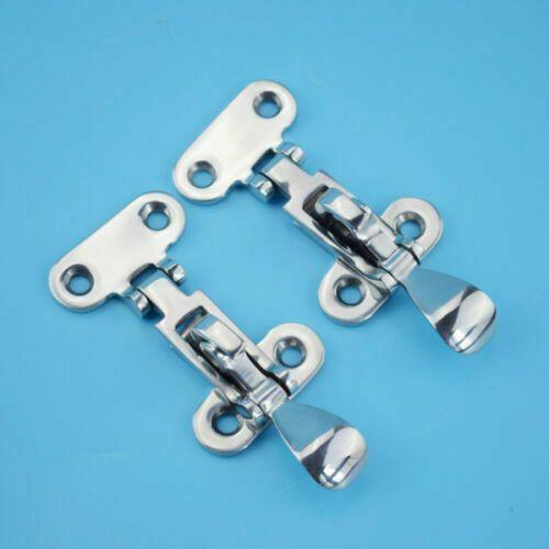 Sponsored Ebay 2x Stainless Steel Boat Lock Hatch Deck Hinge Adjustable Latch Fastener 4 3 8 Door Clamp Latches Steel