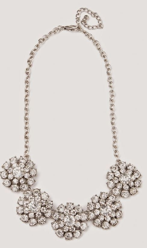 Flowery Crystal Chew Statement Necklace from Mint and Lolly.Get it with Free shipping + get a Free gift with every purchase ♥