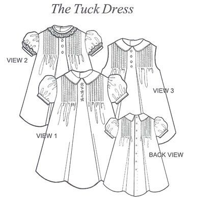 Collars Etc. by Trudy Horne - Tuck Dress