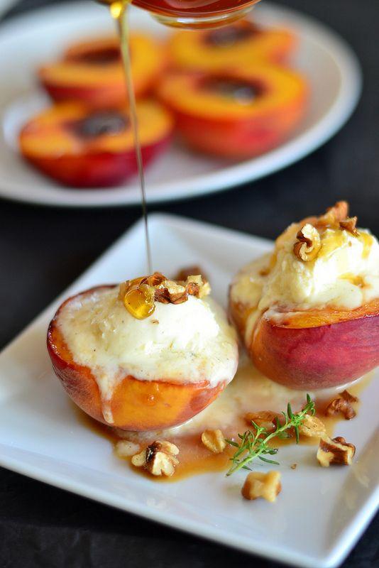 ... mascarpone-cream and honey   food   Pinterest   Mascarpone, Grilled