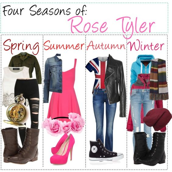 """""""Four Seasons of: Rose Tyler"""" by fabfandomsfash on Polyvore"""