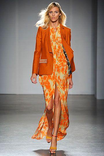 orange + orange print