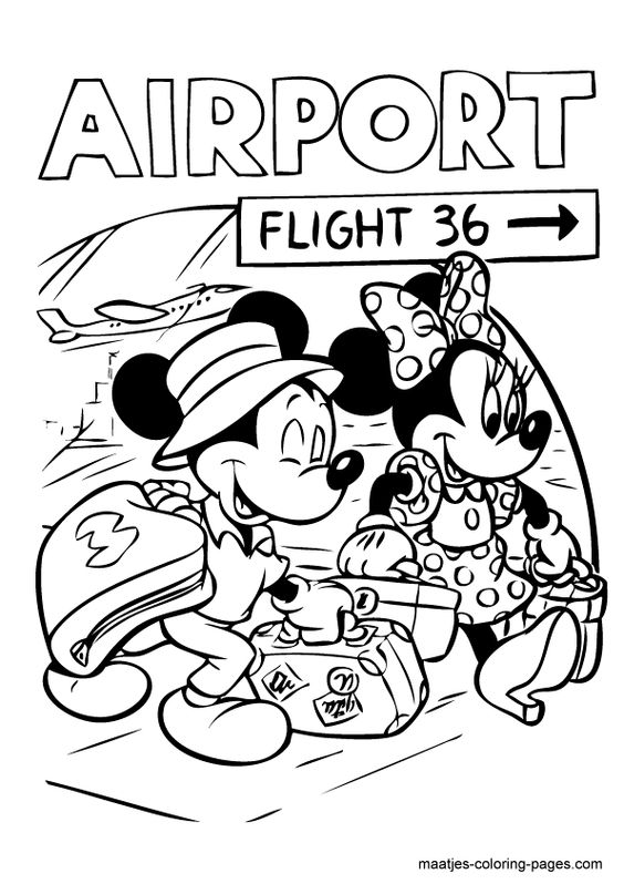 Mickey minnie mouse Coloring pages