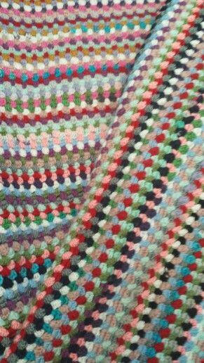 Leftover wool/acryl #blanket#crotchet #nobrand