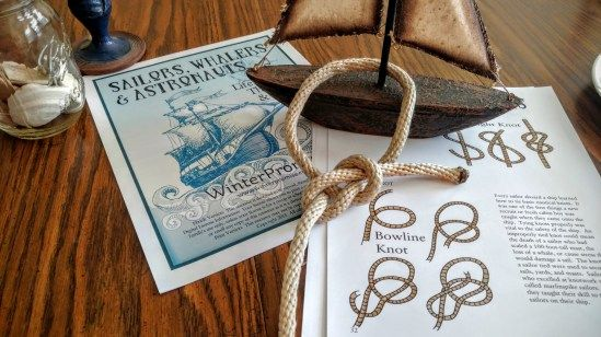 """Learn to tie a knot from our 'Sailors, Whalers & Astronauts"""" resource in our Adventures in the Sea & Sky program!"""