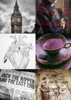 """kay-j-f15: """"Character Aesthetic -> Audrey Rose Wadsworth Stalking Jack The Ripper (by @kerrimaniscalco) """""""