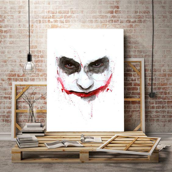 JOKER Watercolor art printable art, typography print joker batman prints, batman vs joker art, joker batman poster print, digital poster von DreamArtprint auf Etsy